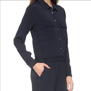 Madewell black button down jumpsuit